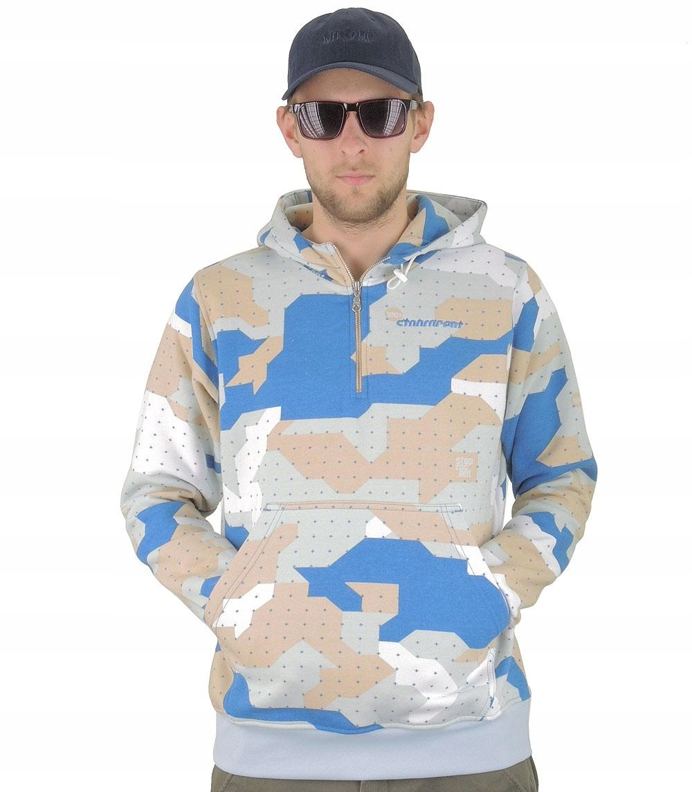 Bluza z kapturem STOPROCENT camo blue, rozmiar:XXL