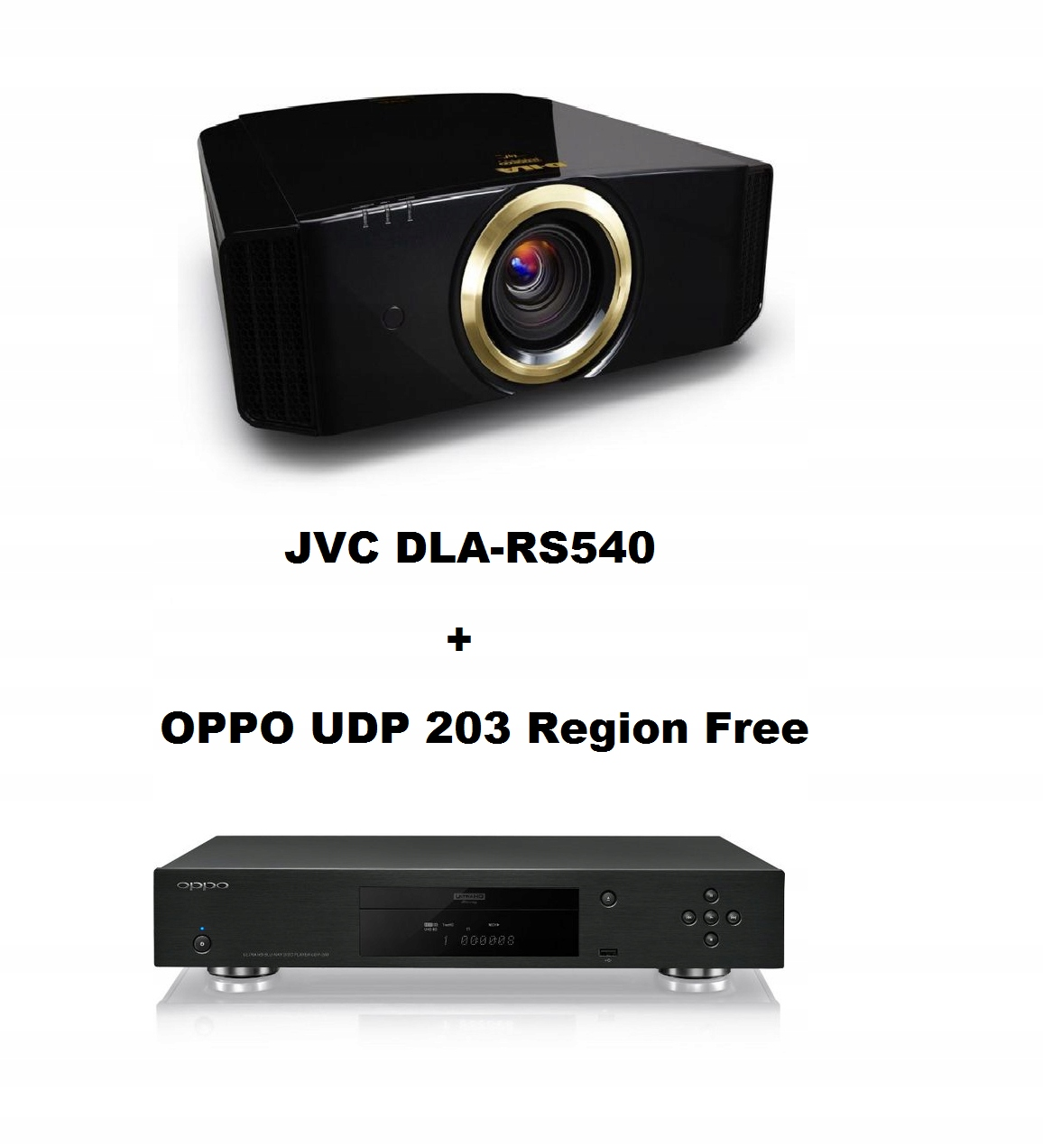 Projektor JVC DLA-RS540 i OPPO UDP 203 Region Free