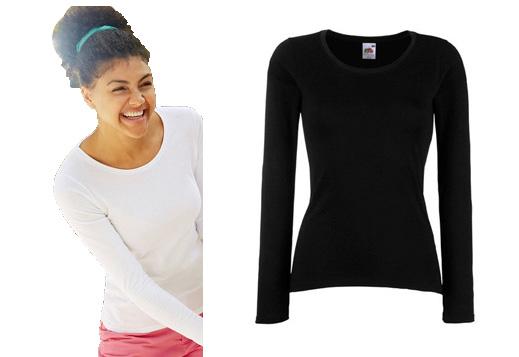 2db89977c1 FRUIT koszulka damska bluzka długi rękaw CZARNA XS - 7190845868 ...