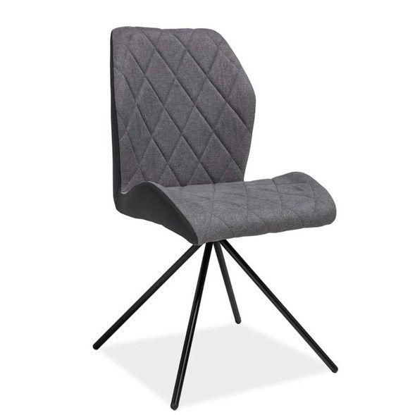 Krzesło pikowane tapicerowane szare nowoczesne