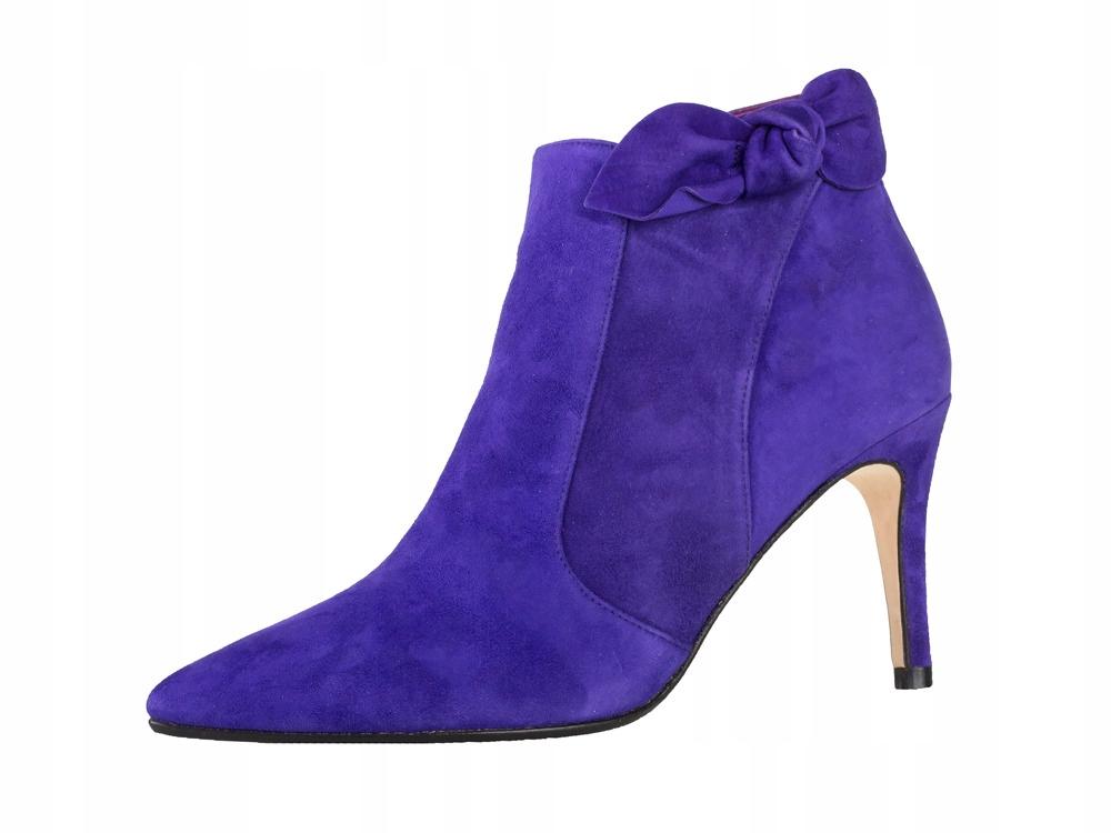 f16c0c4109065 Modne buty damskie na obcasie jesienne Botki skóra - 7655093610 ...