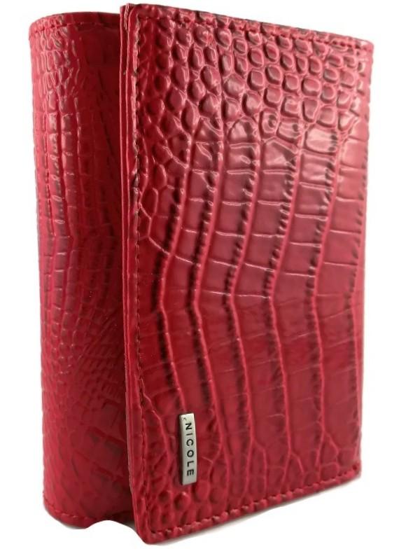 fde8ace82ac27 Portfel DAMSKI Pudełko Czerwony NICOLE prezent - 7074513905 ...
