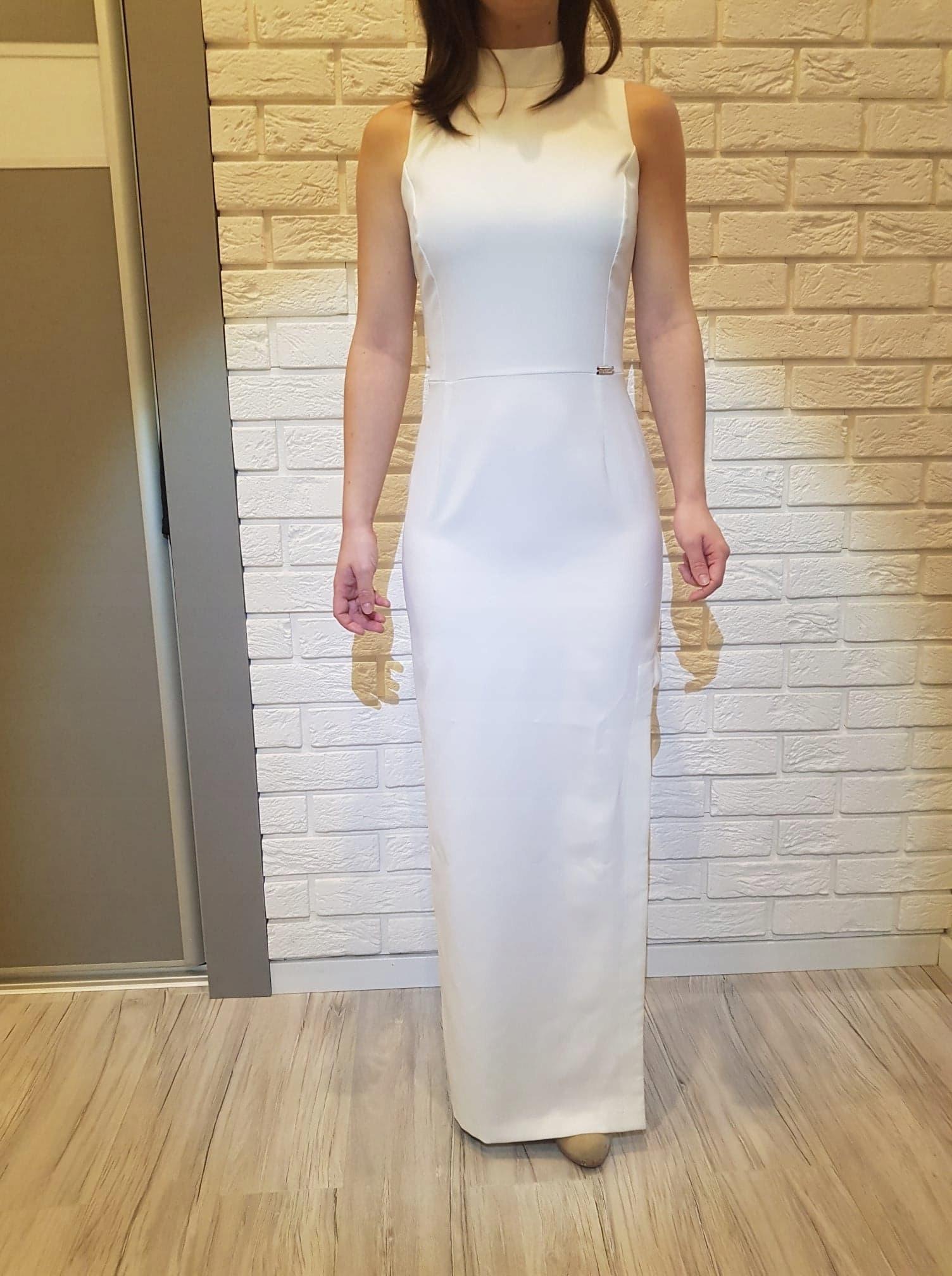 f4023527ab Sukienka ślubna Cywilny długa prosta 34 suknia - 7745343073 ...