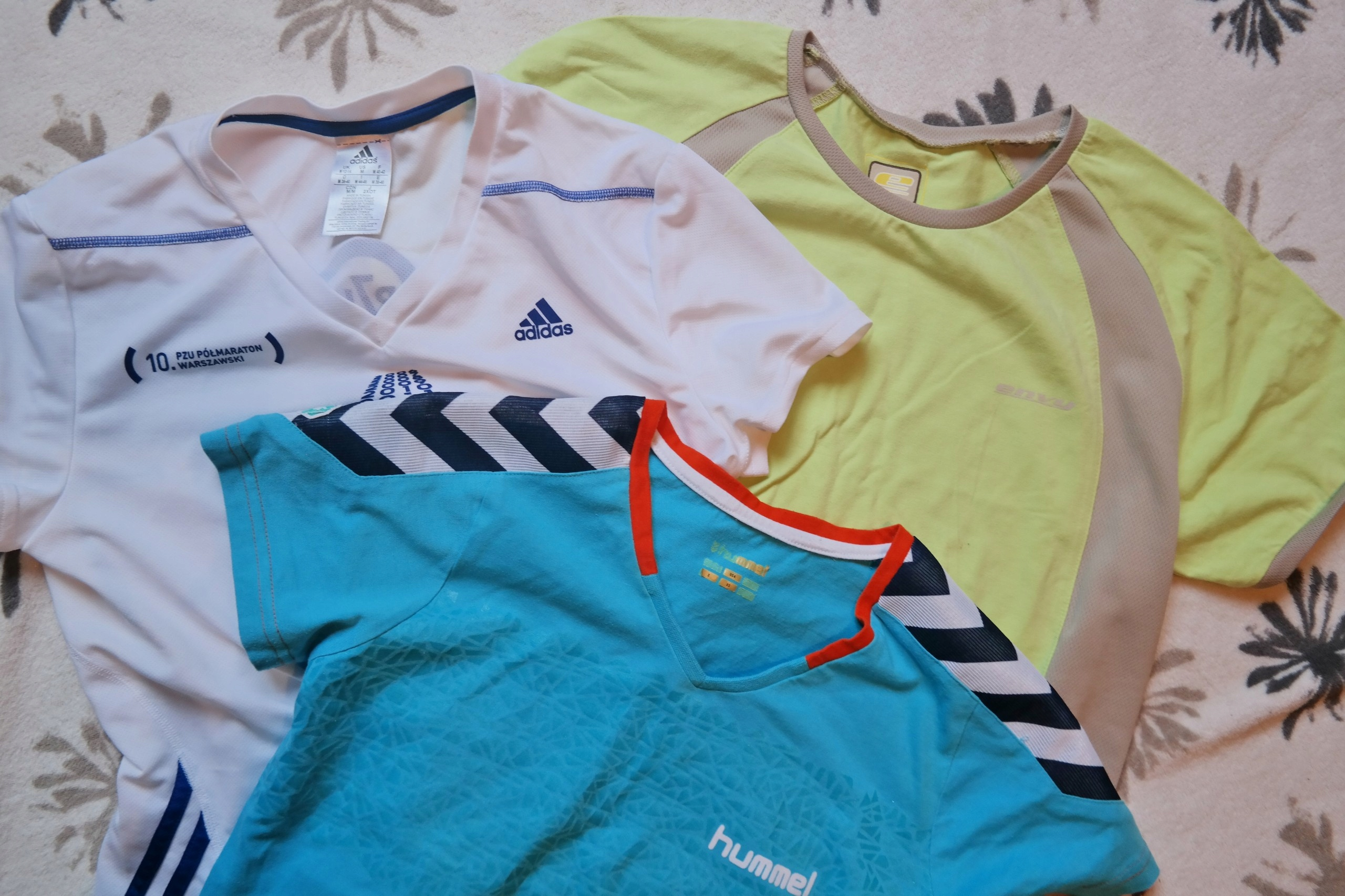 44191fbd9 ADIDAS HUMMEL 3 koszulki damskie sportowe r. 38 M - 7433950900 ...