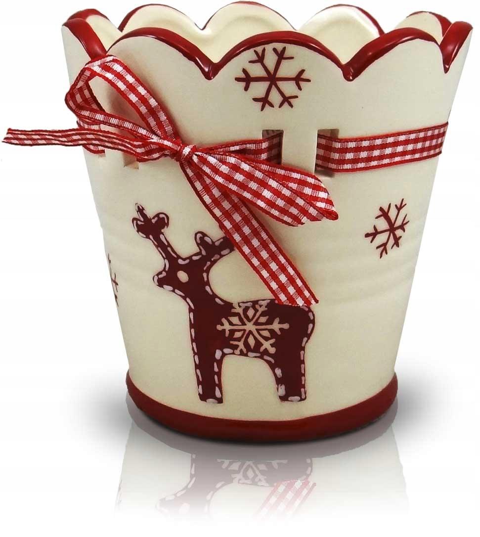 Osłonka Doniczka Ceramiczna Boże Narodzenie 17x17