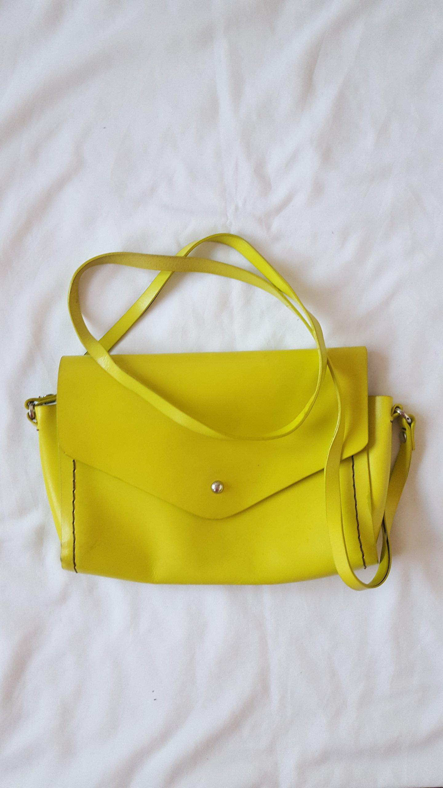 7d130b1c66450 torebka mała na ramię ZARA neonowa żółta - 7171739479 - oficjalne ...