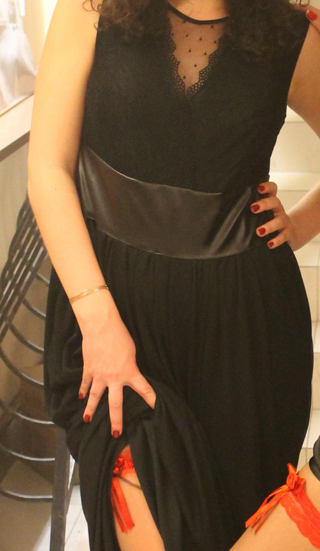d7c74c6a05 Czarna suknia H M maxi elegancka studniówka ba - 7118710228 ...