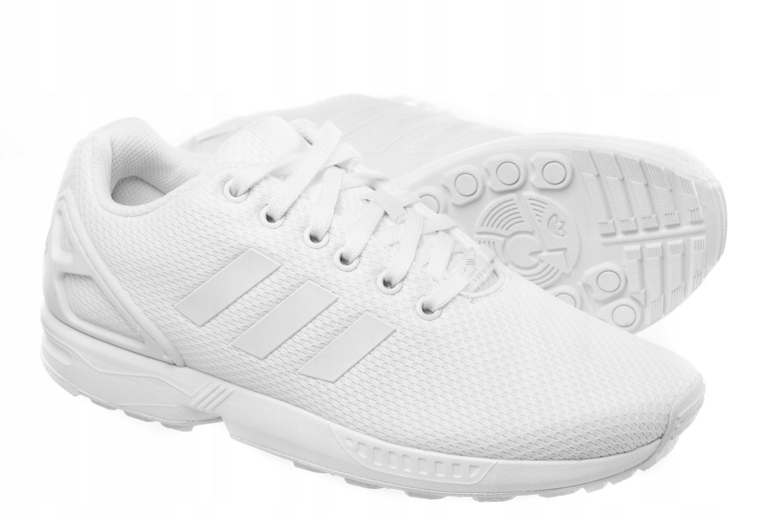 wyprzedaż resztek magazynowych oszczędzać delikatne kolory Adidas ZX Flux Buty Męskie AF6403 Białe 46 - 6841628431 ...