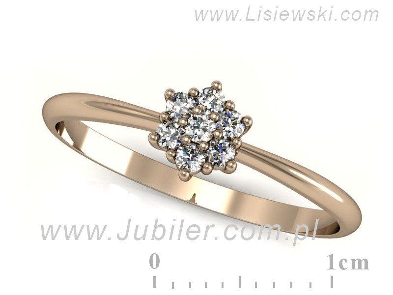 Pierścionek Zaręczynowy Różowe Złoto Brylanty 11 7359450485
