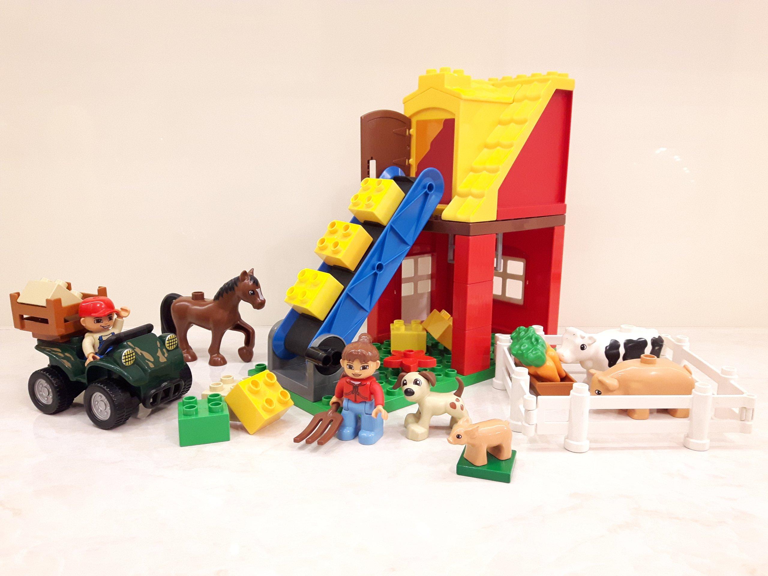 Lego Duplo Farma 4975 Quad Farmer Koń świnka C 7357092666