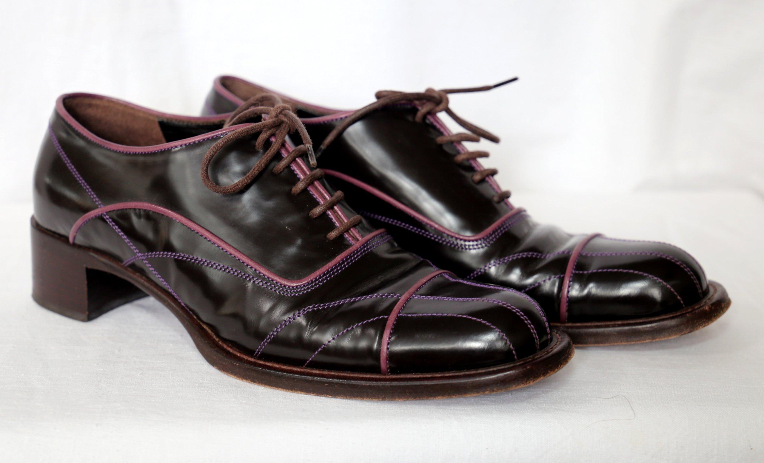 67220b5138a52 Skórzane buty PRADA rozm . 36 1/2 - 7267949062 - oficjalne archiwum allegro