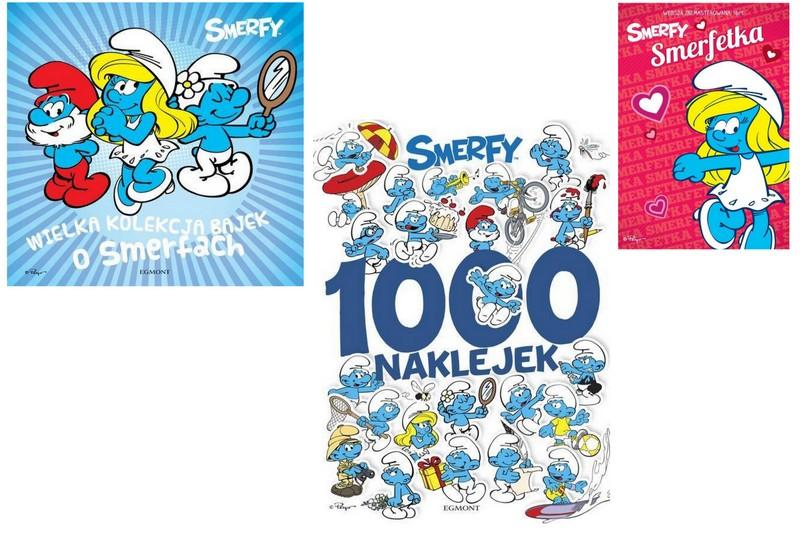 SMERFY KSIĘGA BAJEK+1000 NAKLEJEK+BAJKA DVD SMERFE