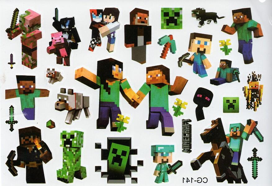 Tatuaże Zmywalne Czasowe Dla Dzieci Minecraft 7388320405