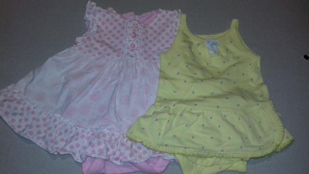 Mothercare body sukienka C&A r 62 2 pack