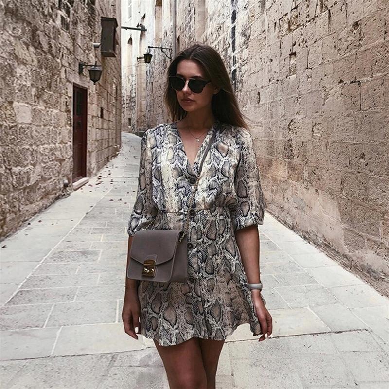 Sukienka Wężowa Skóra Wzór Zara HIT Instagrama!! M