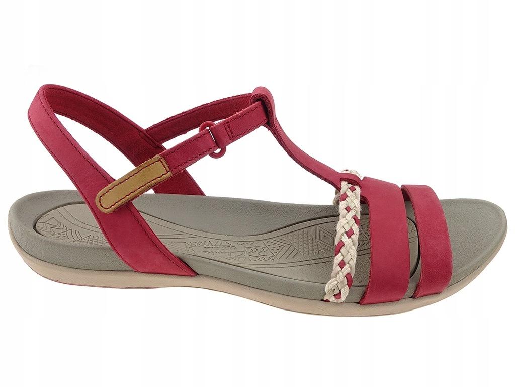 11% Clarks sandały 26123892 czerwone, skóra 42 6832278543
