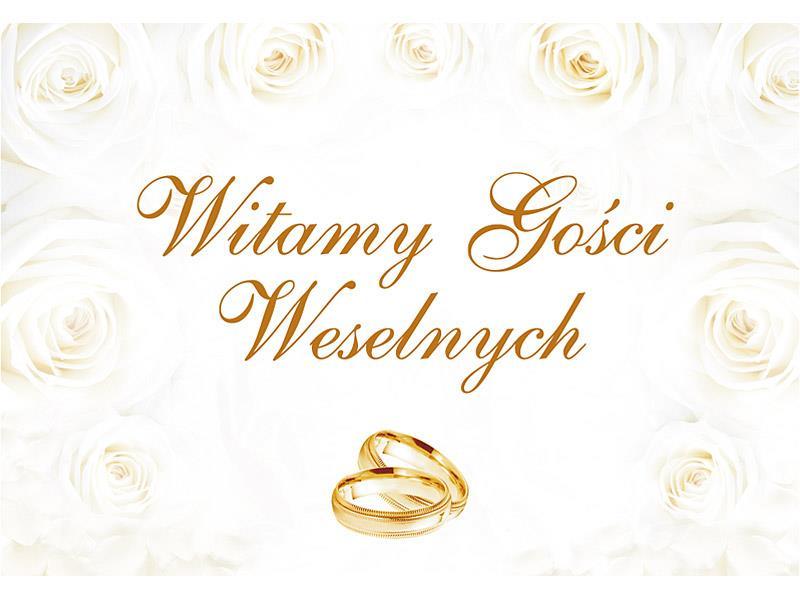 Plakat Dekoracyjny Powitalny 58x40cm Wesele Ślub
