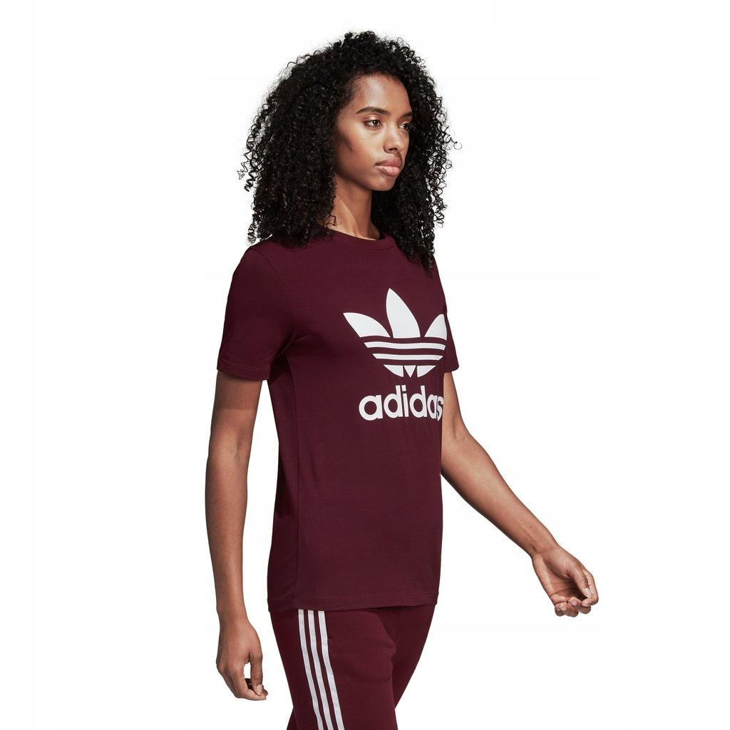 Koszulka damska adidas Trefoil Tee bordowa DH3174 Ceny i