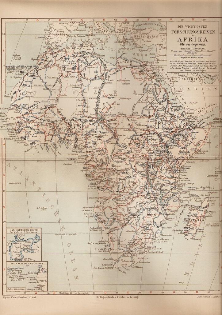 TRASY ODKRYWCÓW AFRYKI 1907 ROK