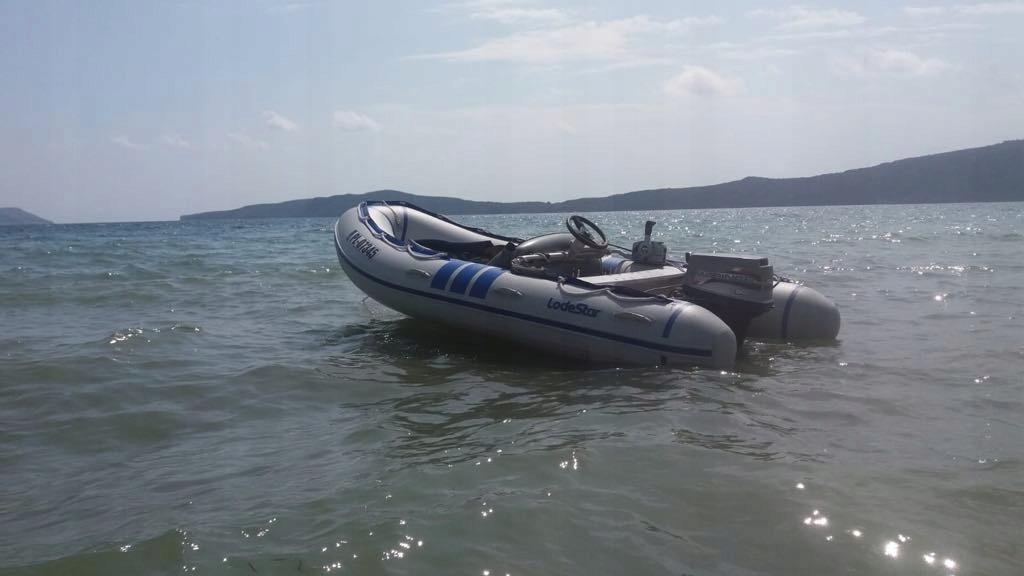 Ponton z silnikiem Marina 30 Mercure