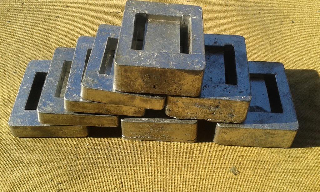 Balast nurkowy ołów kafel 1 kg - 23 zł