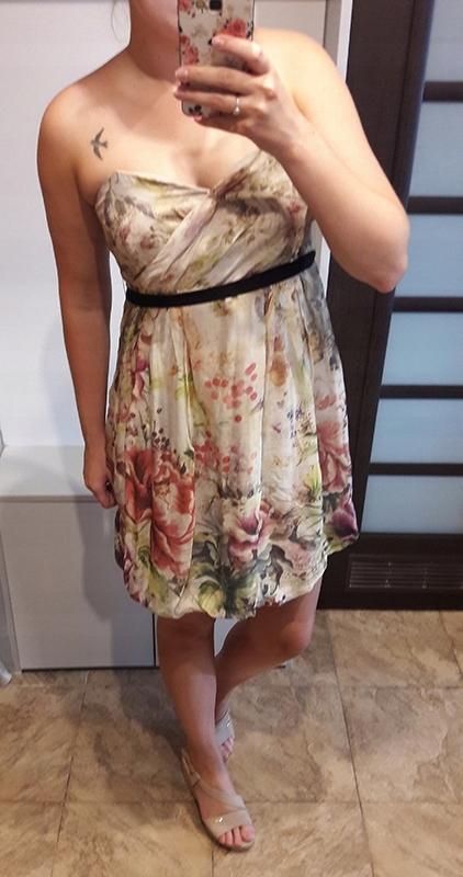ZARA piękna sukienka gorsetowa w kwiaty r L wesele