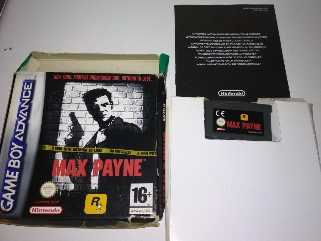 Max Payne Game Boy Advance Gba Unikat 7149019688 Oficjalne Archiwum Allegro
