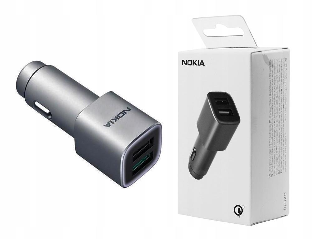Nokia 6   Ładowarka samochodowa Nokia QC 3.0 2xUSB