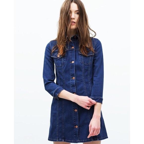 Zara M jeansowa sukienka Premium Denim Collection