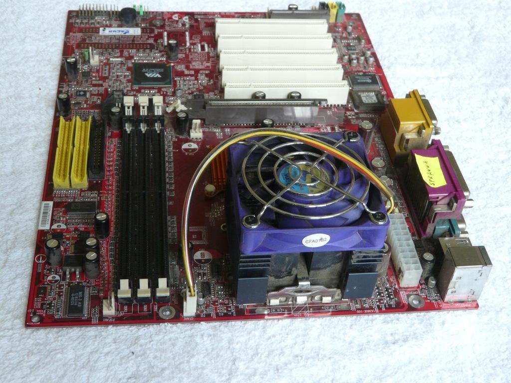 Płyta główna MSI A6380VMS + procesor + chłodzenie
