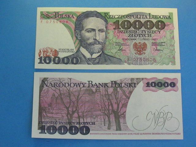 UNC Poland 10000 1988 P-151b Zlotych 10,000