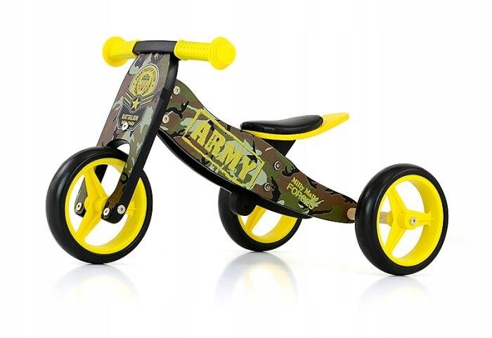 Rowerek biegowy, kolor: militarny, Jake - 2 w 1