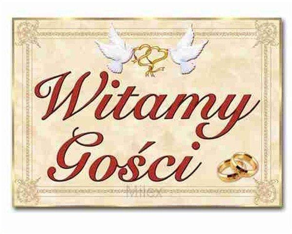 Plansza weselna, plakat weselny, Witamy Gości...