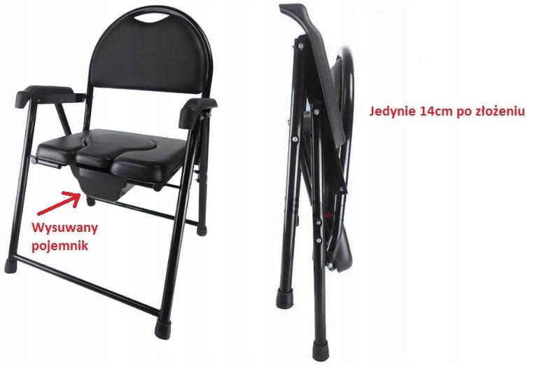 Krzesło toaletowe tapicerowane – składane AR 102