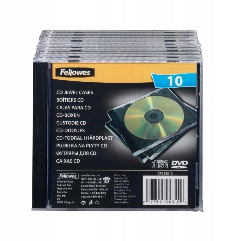 Fellowes 98310 pudełko na płytę CD 10 szt. Jewel