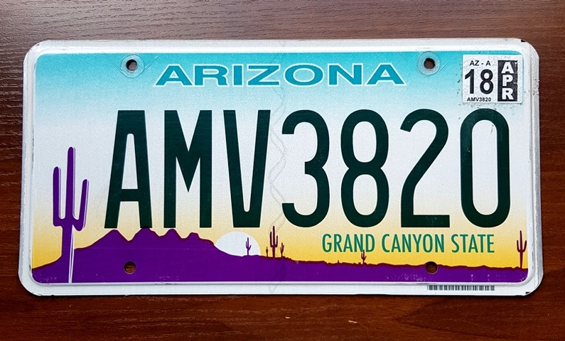 Tablica Rejestracyjna Usa Arizona 2018 7702029609 Oficjalne Archiwum Allegro