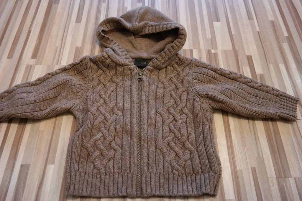Gruby sweter chłopięcy NEXT r.86