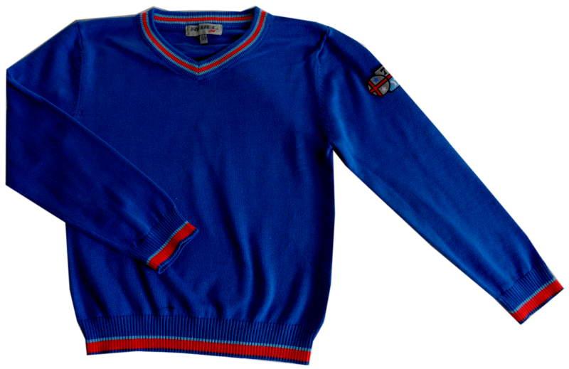 JESIEŃ fajny REBEL sweter BLUE chł 6-7L/122