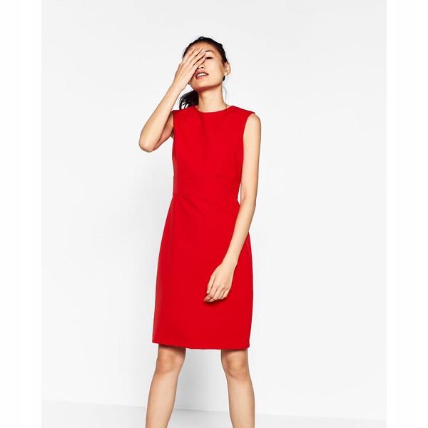 czerwona sukienka zara