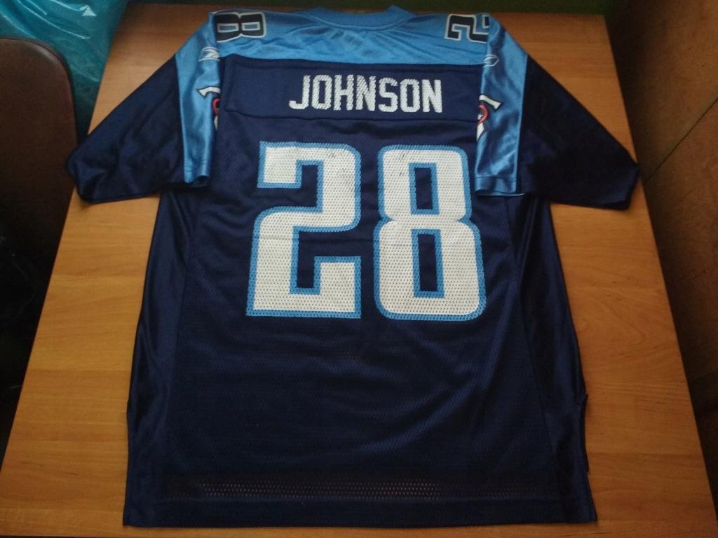 Reebok Tennessee Titans Johnson NFL MLB NHL NBA
