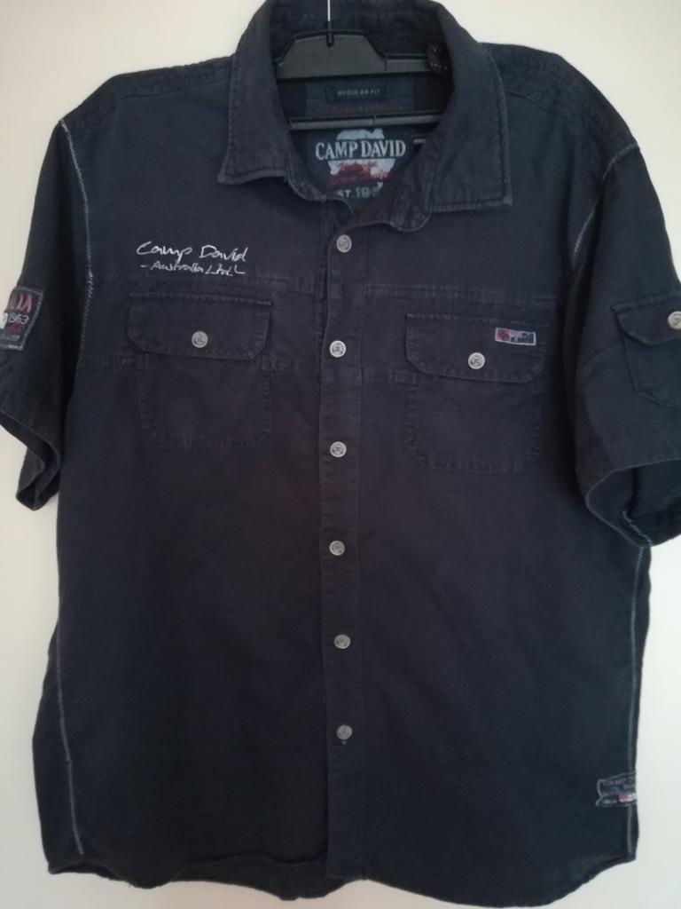 Camp David koszulka lniana XL