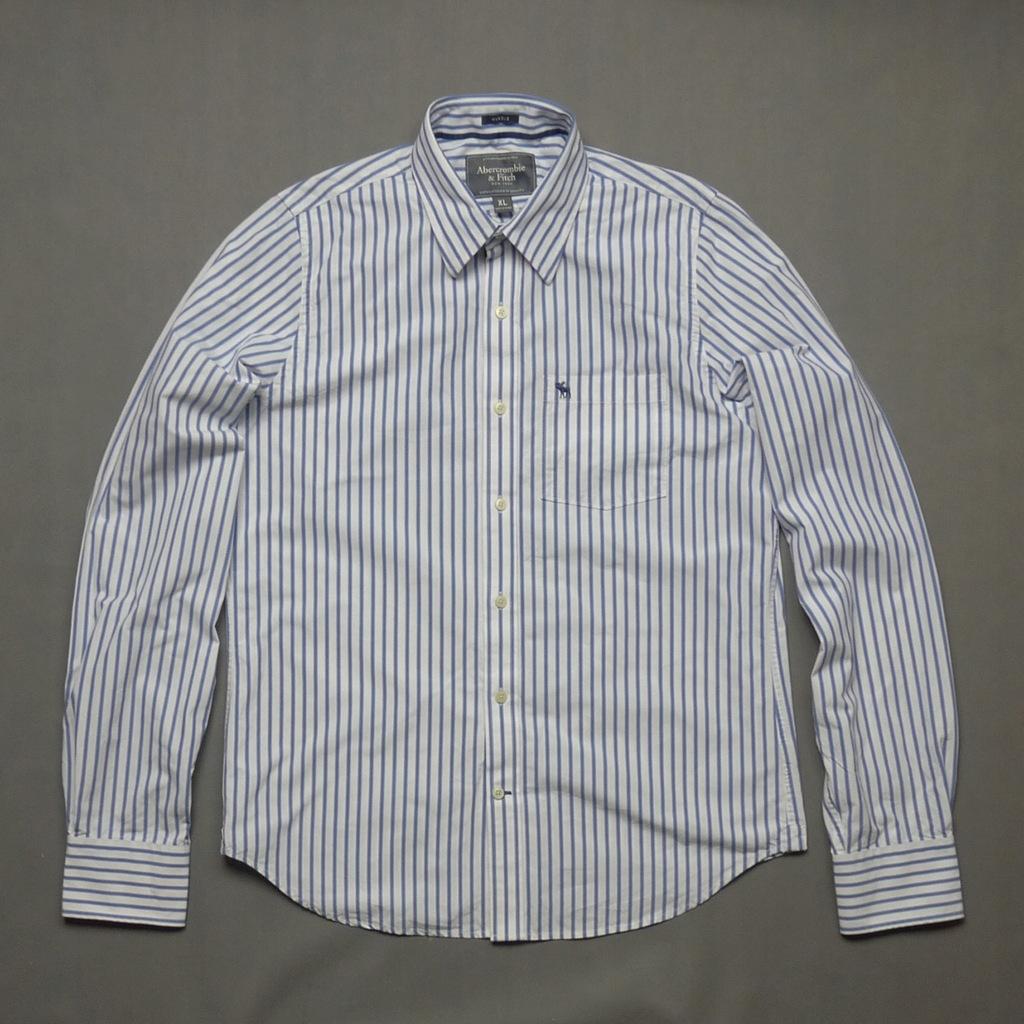 ABERCROMBIE & FITCH koszula w paski MUSCLE XL 7663767173  Wn0S3