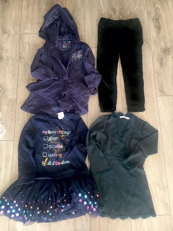 Ciepłe sukienki i spodnie dla dziewczynki 4 lata