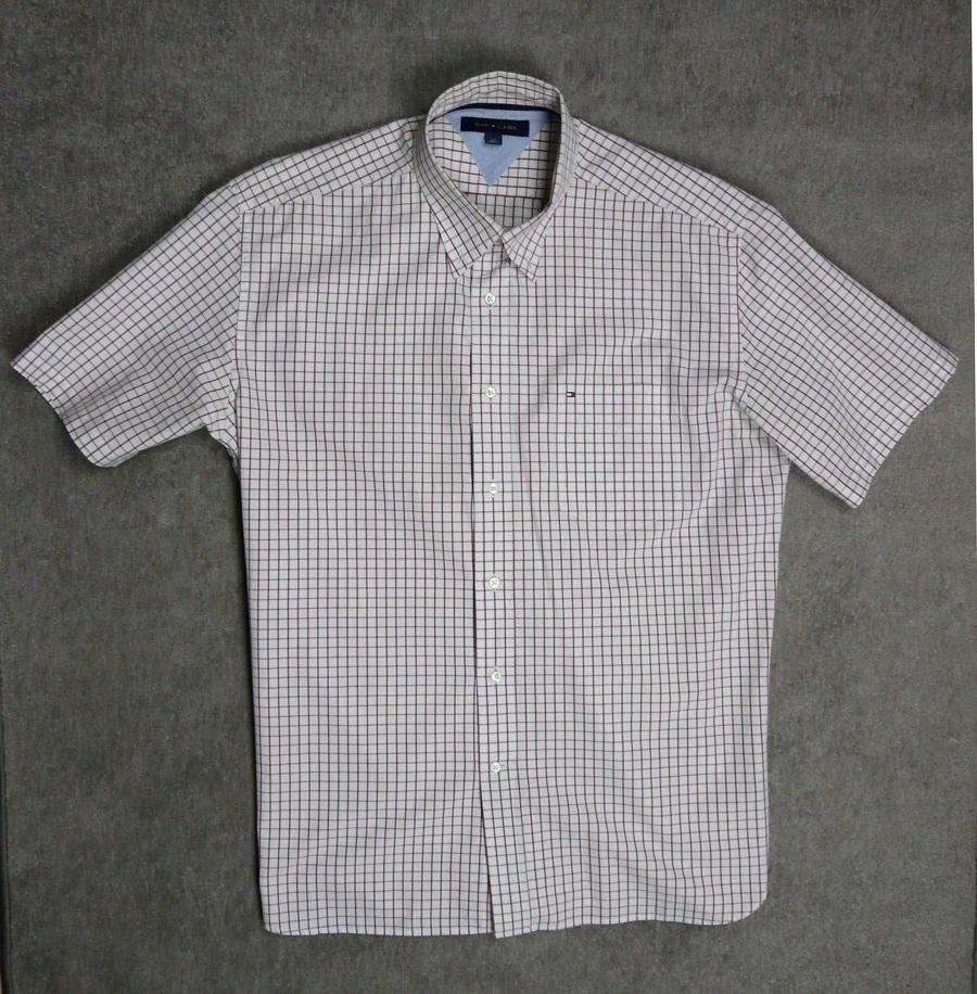 TOMMY HILFIGER koszula męska - L / XL kratka