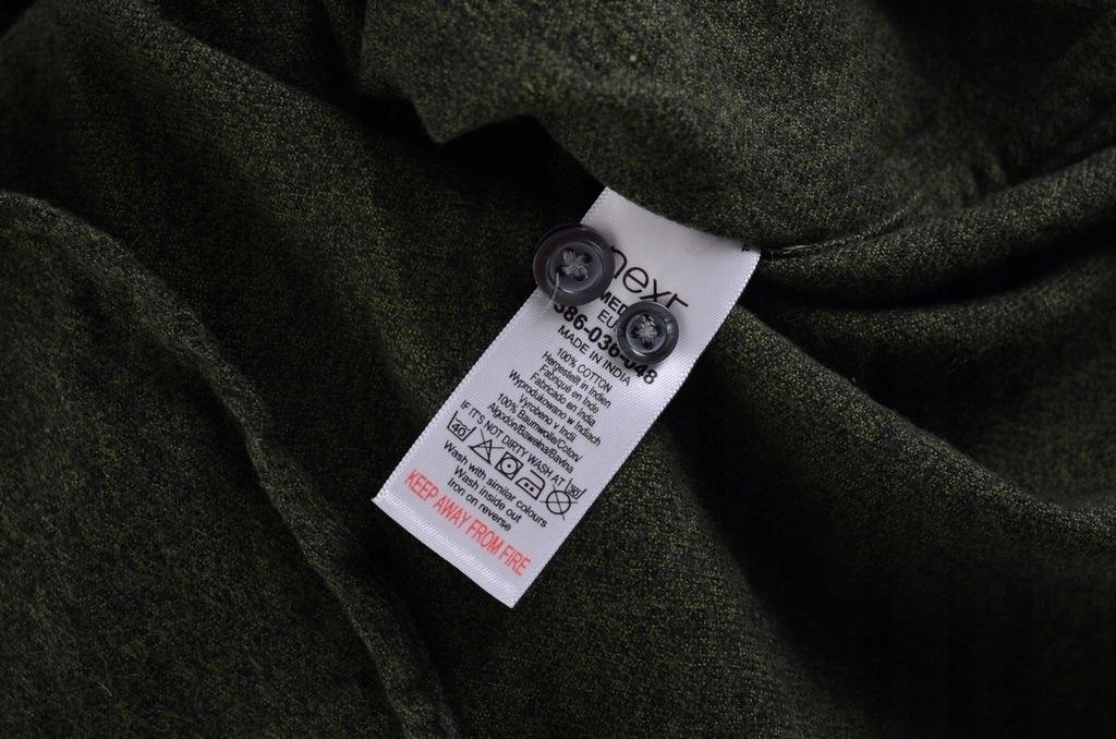 NEXT flanelowa koszula męska zielona M k 40 7593205568  D8g3p