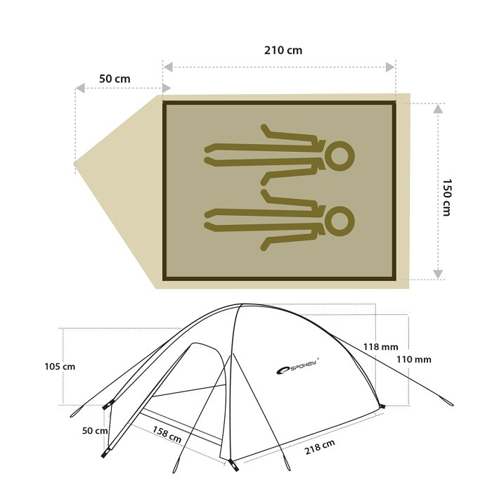 2 Osobowy Namiot CHINOOK 2 SPOKEY tropik 2500mm 6742599494