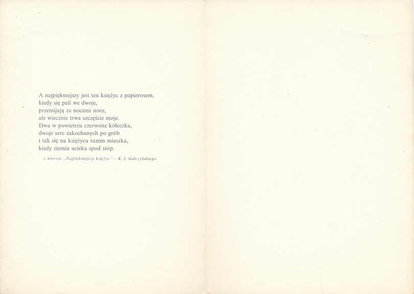 Orlińska Wiersz Najpiękniejszy Księżyc Gałczyński