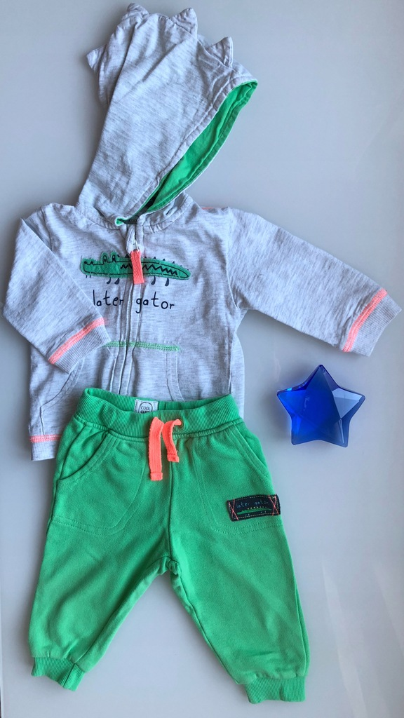 Cool club dresy szare z krokodylem 68 szare zielon