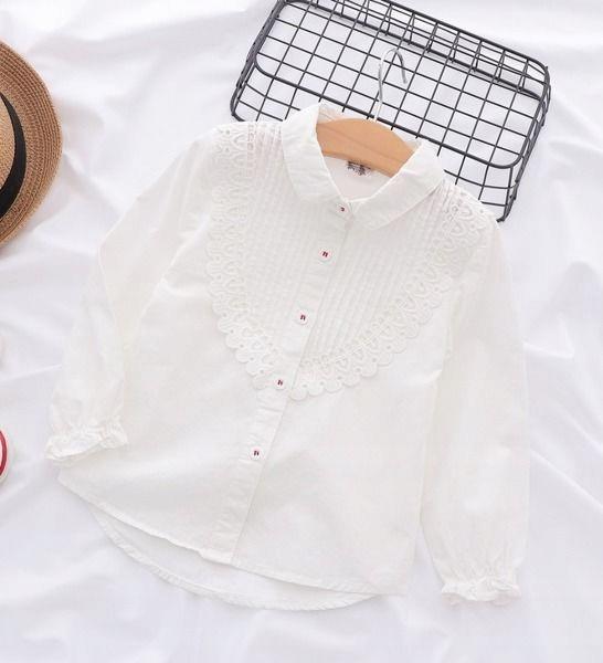 Elegancka biała koszula dziewczęca 100 7662971005  avvR5