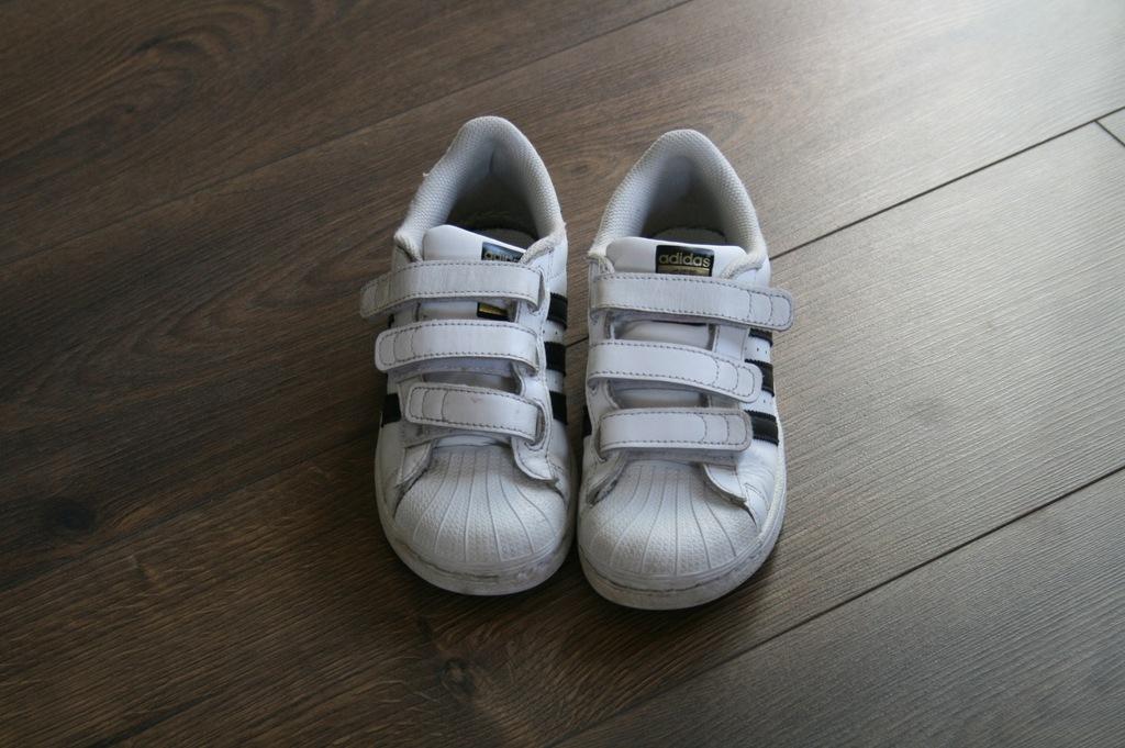 Białe buty sportowe zapinane na rzepy adidas 37,5